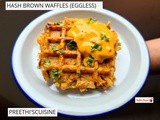 Hash brown waffles (eggless)