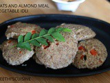 Oats and almond meal vegetable idli