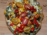 Paneer pepper pizza(desi style)