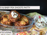 Potato & baby pea shoots patty