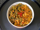 Spinach capsicum fried rice
