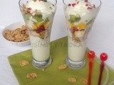 Fruit and Ice-cream Parfaits