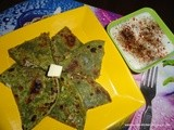 Spinach Cheese Paratha/ P3