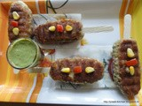Tri-Coloured Vegetable Grill Kebab/ Vegetable Kebab/ Grill Kebab/ Vegetable Seekh Kebab