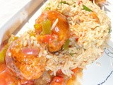 Veg. Gravy Manchurian with Fried Rice