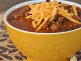 7th Annual Chili Contest: Entry #1 – Game Day Chili + Weekly Menu