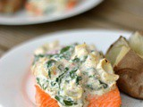 Artichoke and Spinach Roasted Salmon + Weekly Menu