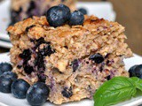 Baked Blueberry Walnut Oatmeal
