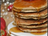 Banana Wheat Germ Pancakes