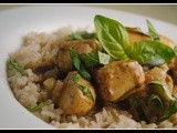 Basil Chicken in a Coconut-Curry Sauce + Weekly Menu