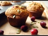 Best Ever Pumpkin Cranberry Muffins