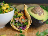 Blackened Fish Tacos with Mango Salsa + Weekly Menu