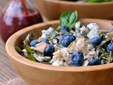 Blueberry Arugula Salad with Brown Rice + Weekly Menu