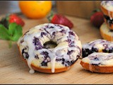 Blueberry Lemon Glazed Doughnuts