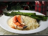 Buttery Lobster Risotto with Crab Claw and Asparagus + Weekly Menu