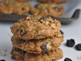 Chocolate-Cherry Oatmeal Cookies + Weekly Menu