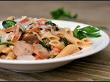 Creamy Chicken Sausage and Spinach Pasta