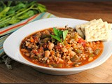 Crockpot Wheat Berry and Turkey Sausage Minestrone + Weekly Menu