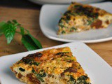 Crustless Quiche with Spinach, Onion, and Chorizo