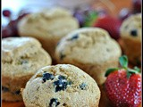 Healthy Whole Wheat Blueberry Muffins + Weekly Menu
