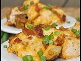 Loaded Baked Potato and Buffalo Chicken Casserole + Weekly Menu