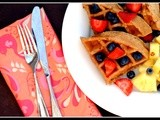 Love Your Heart: Maple, Walnut, and Flaxseed Waffles (or Pancakes)