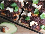 Meatless Monday: Black Bean-Roasted Zucchini-Goat Cheese Enchiladas + Weekly Menu