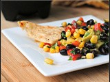 Meatless Monday: Black Bean Salsa with Corn, Red Peppers, Avocado and Lime-Cilantro Vinaigrette