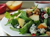 Meatless Monday: Chopped Apple Salad with Toasted Walnuts, Blue Cheese and Pomegranate Vinaigrette