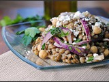 Meatless Monday: Lentil and Chickpea Salad with Feta and Tahini