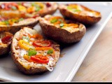 Meatless Monday & Money Matters: Baked Potato Skins Veggie Pizzas