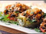 Meatless Monday & Money Matters: Black Bean and Rice Stuffed Peppers