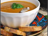 Meatless Monday: Roasted Tomato Soup with Goat Cheese