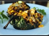 Meatless Monday: Stuffed Poblano Peppers