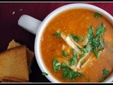 Money Matters: Chicken Tortilla Soup (+ the quickiest, most amazing chicken shredding tip!)