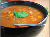 Nearly Meatless Monday: Slow Cooker Lentil Soup with Bacon