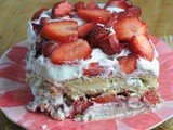 No Bake Strawberry Icebox Cake + Weekly Menu