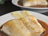 Pan Roasted Chilean Sea Bass with Red Pepper Sauce