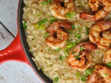 Parmesan Risotto with Roasted Shrimp + Weekly Menu