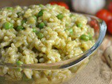 Pea and Pesto Risotto + Weekly Menu
