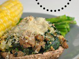Portobello Mushrooms Stuffed with Sausage, Spinach, and Cheese + Weekly Menu