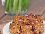 Pumpkin Spice Baked Oatmeal with Cranberries + Weekly Menu