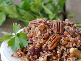 Quinoa and Wheat Berry Salad with Nuts and Cranberries