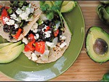 Roasted Tomatillo and Black Bean Tacos