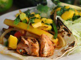 Salmon Fajitas with Mango Salsa