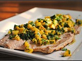 Salmon with Mango Chimichurri + Weekly Menu