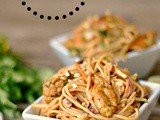 Satay Chicken Noodle Salad + Weekly Menu