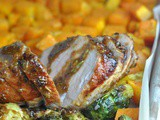 Sheet Pan Balsamic Pork Tenderloin with Fall Vegetables