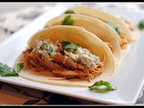 Slow Cooker bbq Chicken Tacos with Blue Cheese Slaw