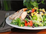 Southwest Chicken Salad with Avocado Buttermilk Dressing
